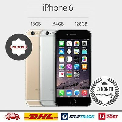 AS NEW Apple iPhone 6 64GB Gold Smartphone Unlocked 4G GSM FREE SHIPPING!