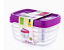 3Pc-Plastic-Food-Container-Storage-Box-LunchBox-Office-Container-With-Lid-1-2LT thumbnail 5