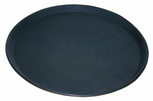 "1 x Non Slip Black Bar Tray Serving Restaurant Waiters Grip Tread Tray 11/"" 28cm"