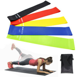 5PCS-5-Level-Natural-Latex-Resistance-Exercise-Loop-Bands-Home-Gym-Yoga-Fitness