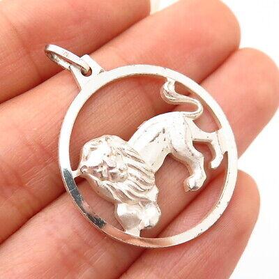 Vintage Sterling Silver Charm Gem set Leo Lion E