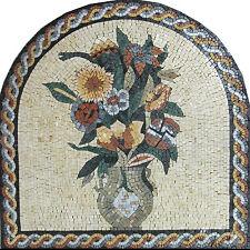 Arched Plant Pot Vase Flower Framed Garden Terrace Home Marble Mosaic FL451