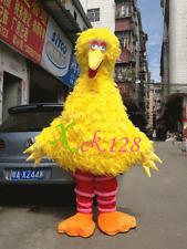 Hot 2016 new Big Bird Sesame Street Mascot Costume Fancy Dress Adult Size-gift