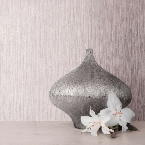 114921 Muriva Lusture Fawn Rose Pink Plain Textured Wallpaper