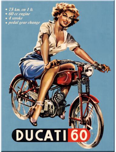 """Nostalgic Art-réfrigérateur-magnétique /""""Ducati 60/"""" 6x8 CM-Métal-NEUF"""