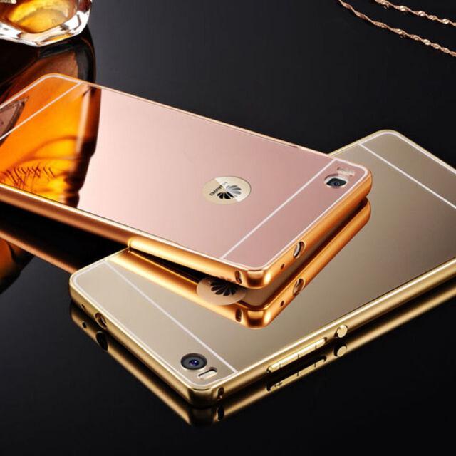 Aluminum Metal Bumper Case PC Back Cover For HUAWEI P8 & P8 Lite&Various Huawei