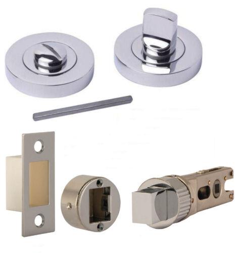 64mm or 76mm Deadbolt or Smartbolt Polished Chrome Bathroom Thumb Turn Release