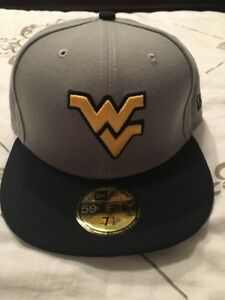 df8f79faa78cf West Virginia Mountaineers WVU Gray New Era NWT Cap Hat Fitted 7 1 8 ...