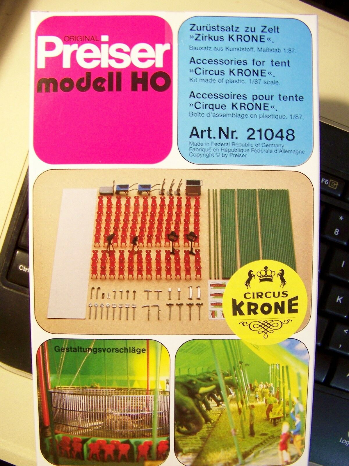 HO Preiser 21048 Accessories for Krone Circus Tent 1 87 scale MODEL DETAIL KIT