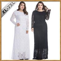 plus size XL-7XL New lace Maxi Dresses evening Cocktail party women's Long dress