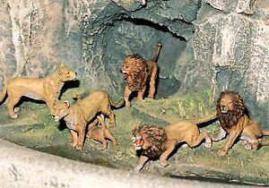 Preiser-elastolin Lion Variantes 1, Animaux Sauvages, échelle 1:25 - Piste G Adapté-gmk-lin Löwen Varianten 1, Wildtiere, Maßstab 1:25-spur G Geeignet-gmk Fr-fr Afficher Le Titre D'origine