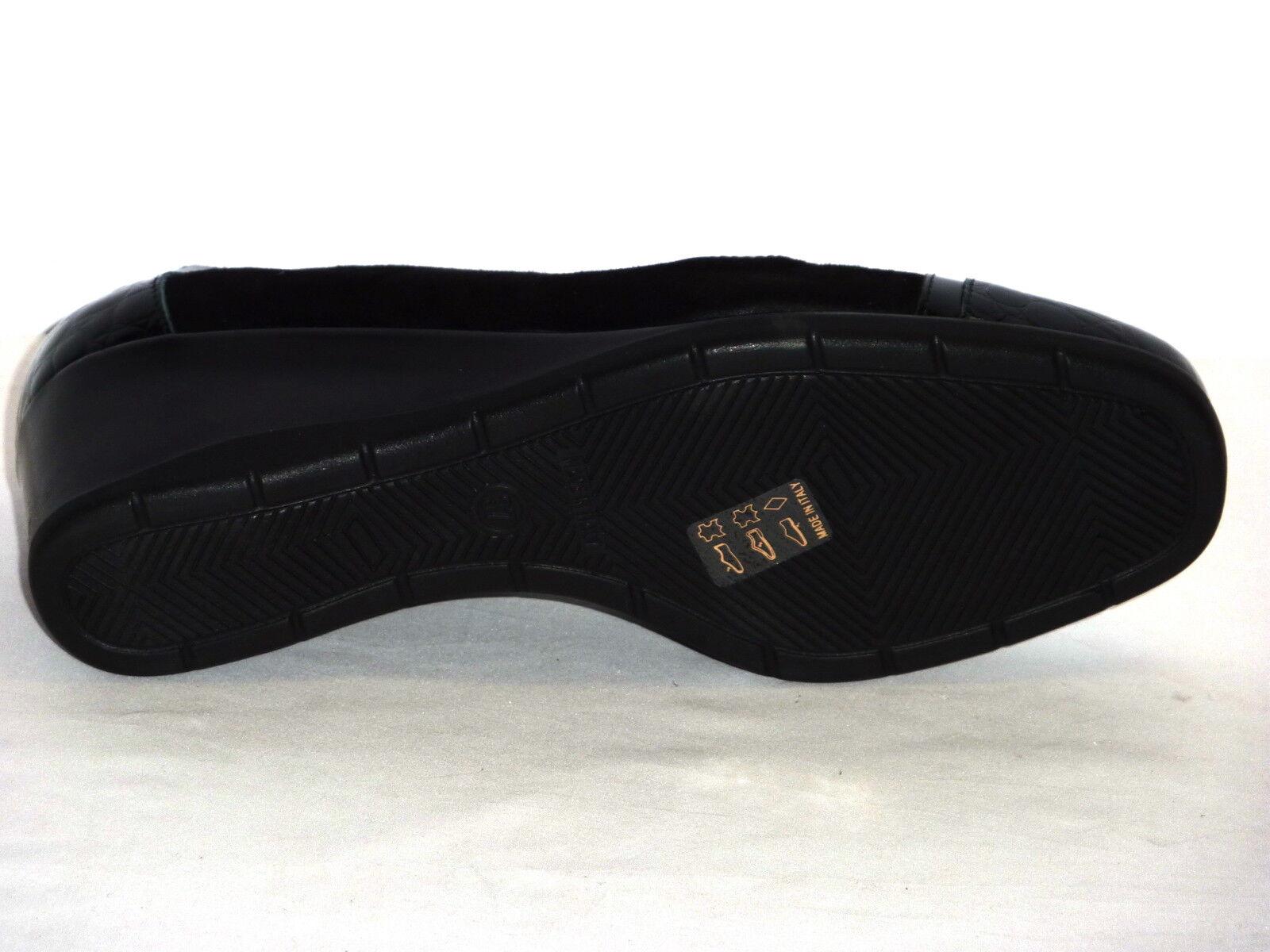 Schuhe Damens CONFORT IN  VERNICE COCCO  IN E NABUK NERO CALDO INVERNO MORBIDE  n. 37 11d123