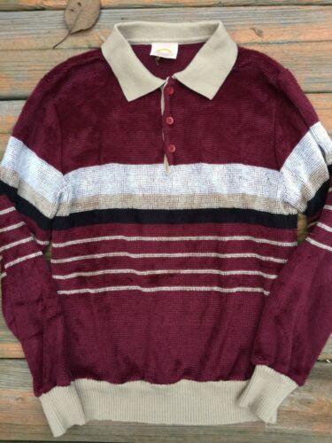 VTG Men's 70's Polo Sweater Long Sleeve Sm SATURDA