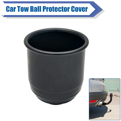50mm Dark Plastic Tow Bar Ball Cover Cap Auto Towing Hitch Towball Protect