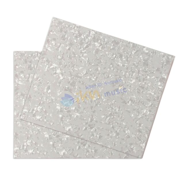 2pcs White Pearl Celluloid Material Pickguard Blank Sheets For