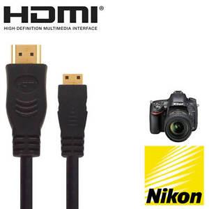4 FEET POWE-Tech 1080P Mini HDMI A//V HD TV Video Cable Cord Lead for Nikon SLR D800 D800E Camera