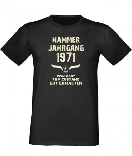T-Shirt Geschenk Geburtstag Hammer Jahrgang 1971 Fun Geburtstagsgeschenk