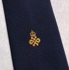 QUEEN'S AWARD EXPORT LOGO TIE VINTAGE CLUB ASSOCIATION NAVY GOLD 1980s 1990s