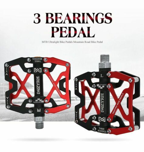 "BMX Bike Bicycle 3 Bearing Flat-Platform 9//16/"" Pedals Cycling Mountain MTB"