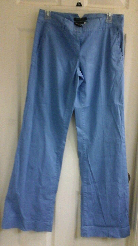 Elie Tahari, women's size 2, bluee casual pants, wide leg, cotton blend NWT  188