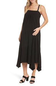 Isabella Oliver Maternity Carey Sleeveless Handkerchief Hem Dress 2 Small 4 6