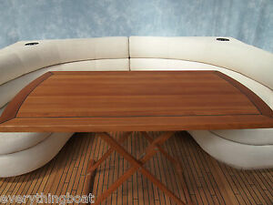 Image Is Loading Marine Quality Teak Folding Large Captains Free Standing