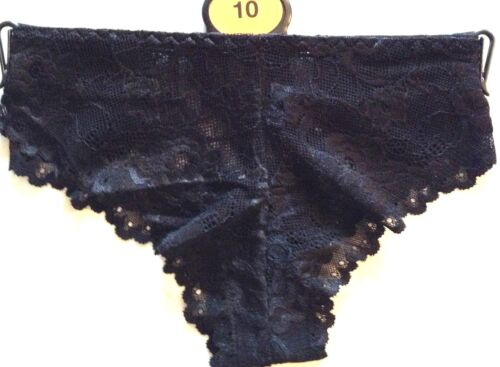 4 ladies supersoft lace ex store Brazilian briefs for just £6.00