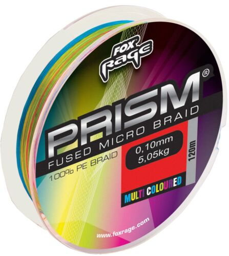 Fox Rage Prism fused braid 120m multicolor geflochtene Schnur 0,14€//1m