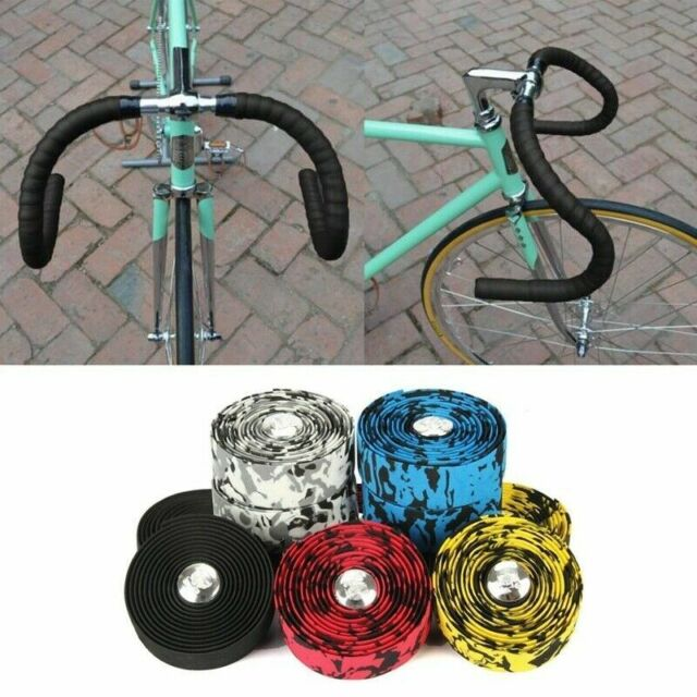 2 PCS Bicycle Handlebar Tape Bar Drop Wrap Cycling Road Bike Anti-Vibration EVA#