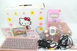 Sega-Dreamcast-DC-HELLO-KITTY-PINK-Console-System-BOX-Tested-Working-japan