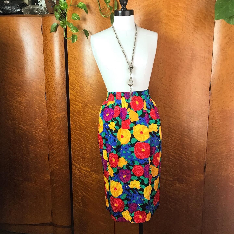SPRING FLORALS 1980's 80s Vintage Pinup Floral Fl… - image 1