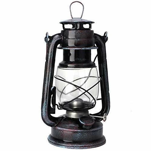 POFET Vintage Storm Lantern Lights Oil Lamp Burning Lantern Retro Kerosene La...