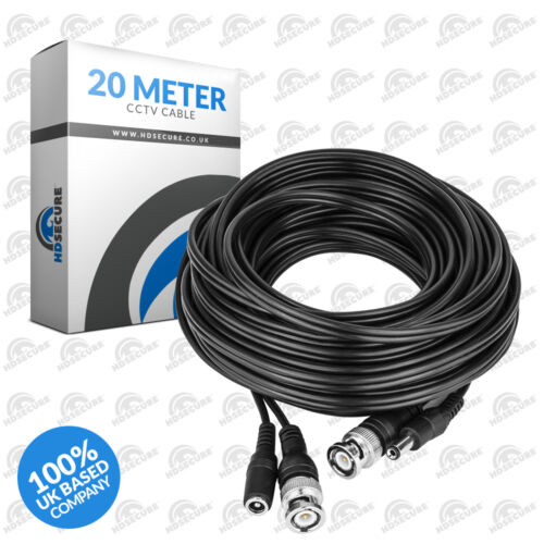 20 Meter CCTV HD Cable BNC Video DC Power Lead Support HDTVI HDCVI AHD ANALOGUE