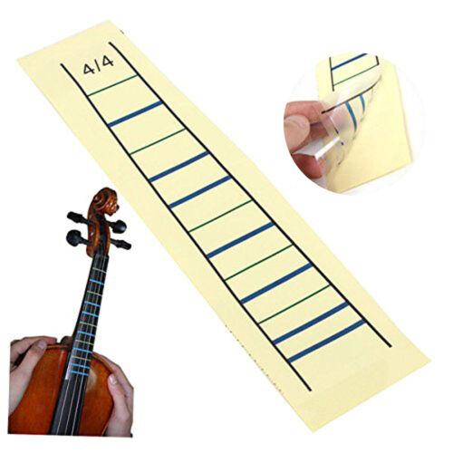 4//4 Violine Griffbrett Aufkleber Geige Grafik Finger Marker Student Lernhilfe