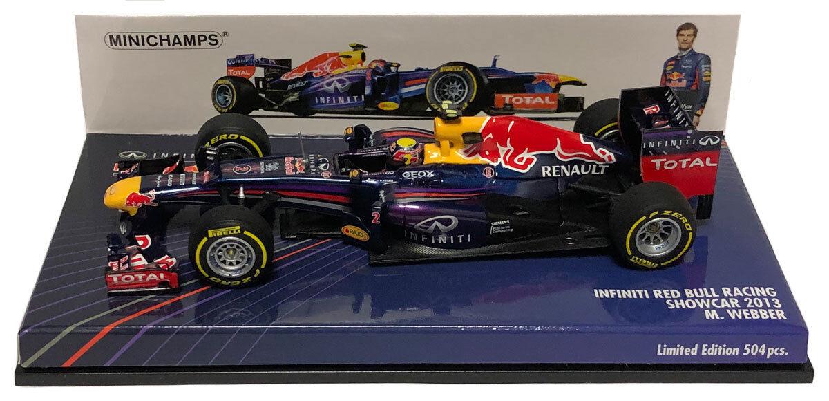 popular Minichamps rojo Bull racing racing racing showCoche 2013-Mark Webber 1 43 Escala  venta al por mayor barato