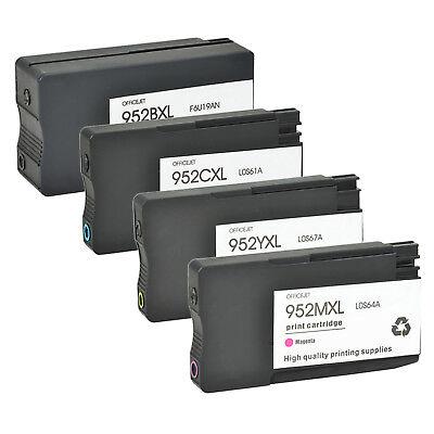 4PK Black HP 952XL 952 Ink Cartridge Officejet Pro 8710 8715 8716 8720 8725 8728