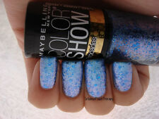 NEW! Maybelline Color Show Brocades Nail Polish in BEAMING BLUE #785 Blue/Violet