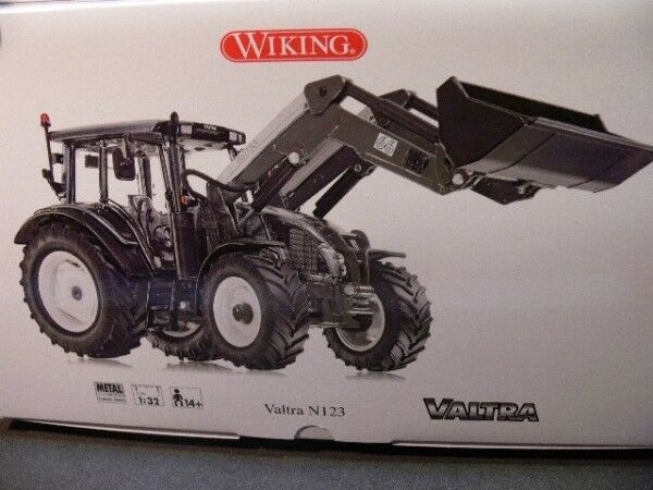 1 32 32 32 Wiking Valtra N123 mit Frontlader 0773 27 0e759e