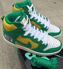 Nike Dunk High Pro SB X Anonymous Sz 10 Stadium Green Black Speed Yellow NIB