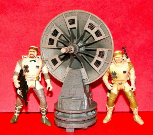 STAR WARS POTF-2 HOTH RADAR LASER CANNON  /& REBEL TROOPERS LOT LOOSE COMPLETE