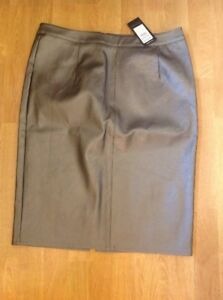 GREAT-NEW-LOOK-PEWTER-PENCIL-SKIRT-UK-SIZE-14-COMES-UP-SMALL-BNWT-RRP-24-99