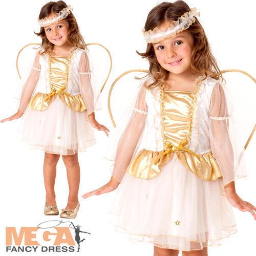 Noël Angel Robe FANTAISIE Fille Noël Nativité Jouer Kids Toddlers Costume 2-3