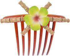 Tiki KAILA Bamboo BAMBUS Frangipani Hawaii HAARKAMM Hair Comb Rockabilly