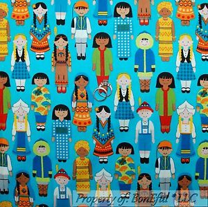 Boneful fabric fq cotton quilt ethnic map small world disney doll image is loading boneful fabric fq cotton quilt ethnic map small gumiabroncs Image collections