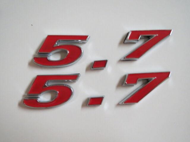 CHEVROLET 5.7 350 ENGINE ID FENDER HOOD SCOOP QUARTER TRUNK EMBLEMS - RED