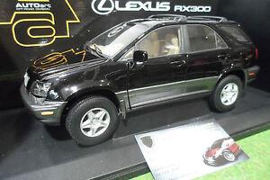 LEXUS-RX-300-noir-black-echelle-1-18-AUTOart-70032-voiture-4x4-miniature-RARE