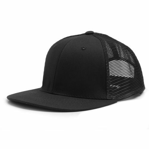 Buy Black Cotton   Mesh 6 Panel Trucker Style Flat Bill Snapback Cap Caps  Hat Hats online  c0c6765f5a3