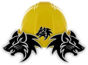 Tribal Wolf Hard Hat Stickers | Motorcycle Welding Helmet Decals | Labels Wolves