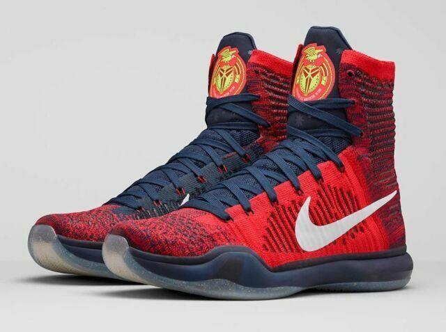 Size 10.5 - Nike Kobe 10 Elite High American 2015 for sale online ...