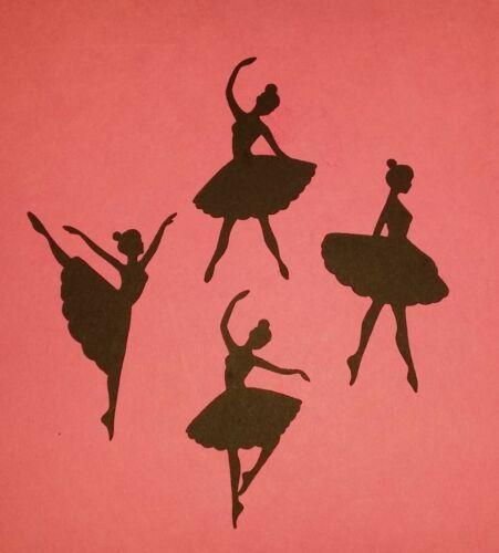 Tarro Bailarina//bailarina siluetas//Die Cortes Para Tarjeta Vela Craft